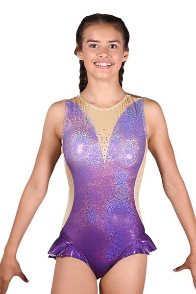 Zendaya z392 greatest showman dress leotard front