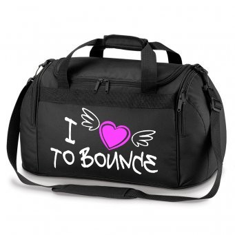 black bag i love to bounce