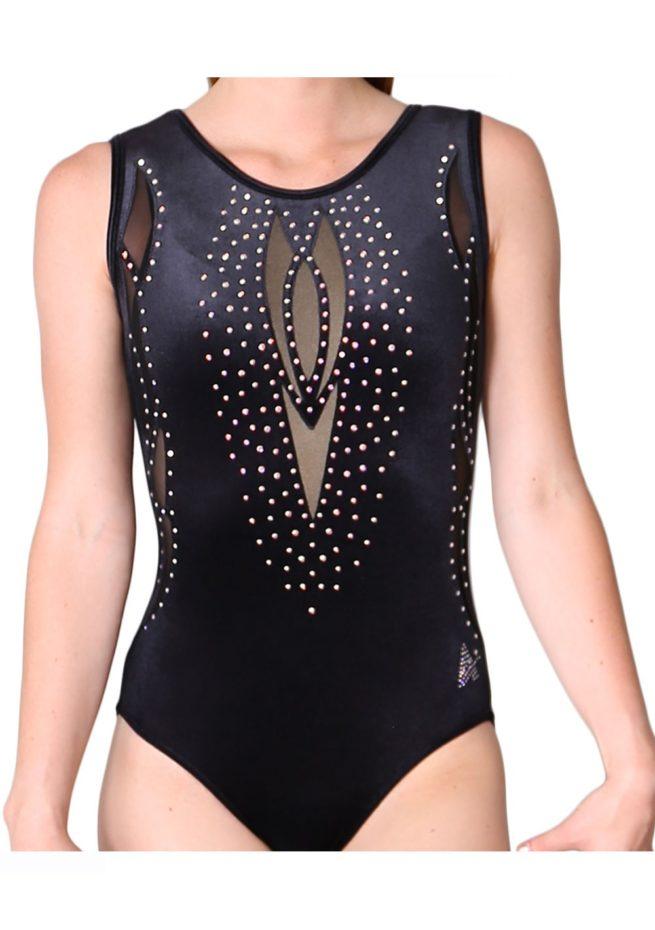 black velour velvet girls leotard mesh net flesh gems pretty