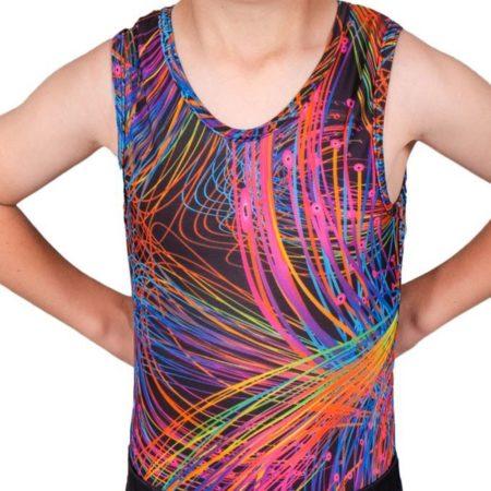 bright sparks bv L119 patterned boys gym leotard