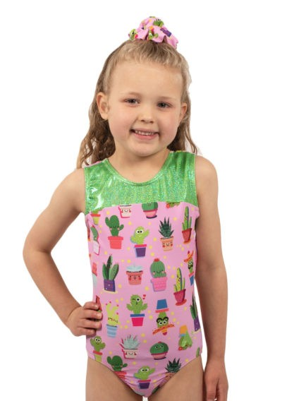 cactus leotards pink girls gymnastics leotards green leotard 1