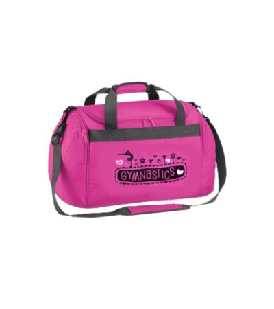 edited holdall bag pink gymnastics NO NAME ON TOP AS CANT DO NEATLY