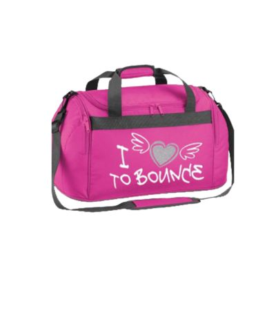 edited holdall bag pink i heart bounce