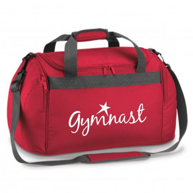 gymnast star red bag