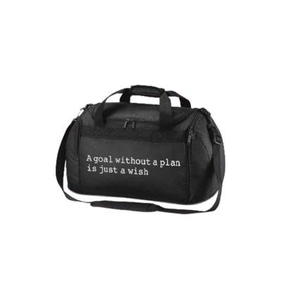 gymnastics uk holdall bag slogan print white black
