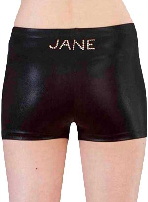 jane diamante personalised shorts gymnastics girls uk diam gems named p s01dnn