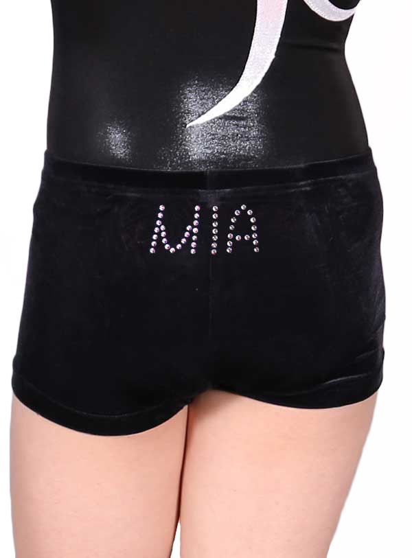 millie named personalised shorts with name diamante gems