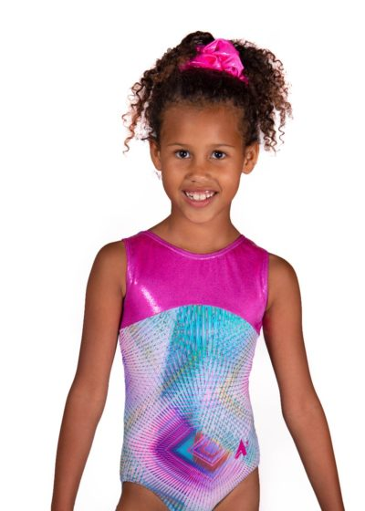 polly z407 pryzm gymnastics sleeveless leotard main Edit