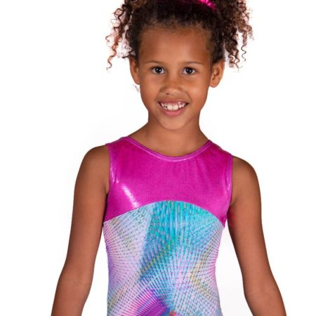 polly z407 pryzm gymnastics sleeveless leotard main Edit