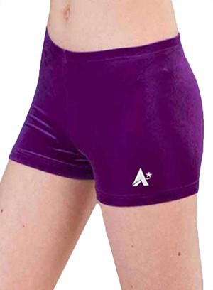 purple velvet velour shorts girls p f07 e660 rm 1