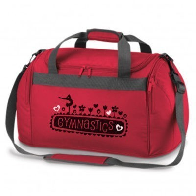 red bag gymnastics floral