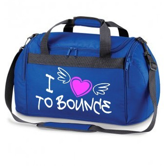royal blue HOLDALL i love to bounce
