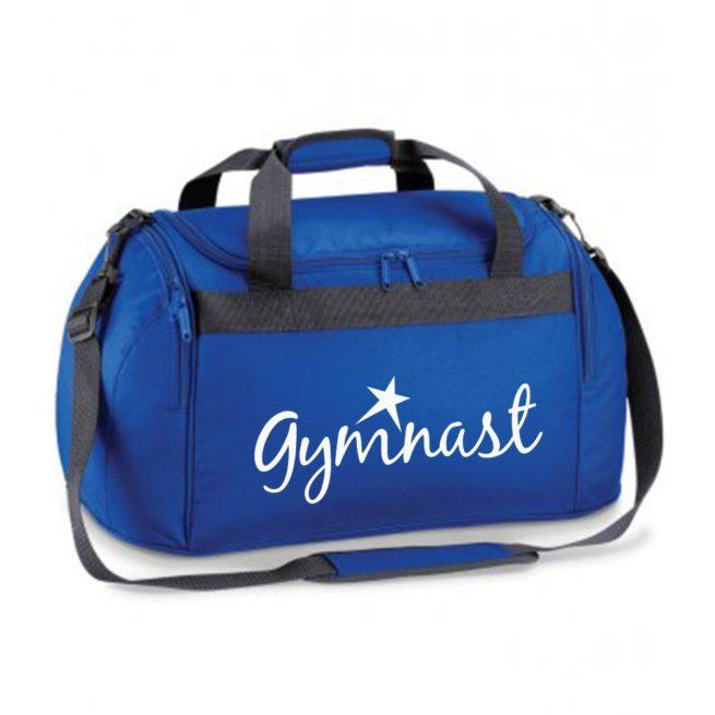royal blue gymnast star bag white