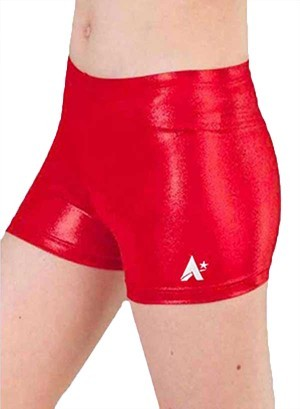 ruby red shimmer foil shorts spankies p s51 1del xn