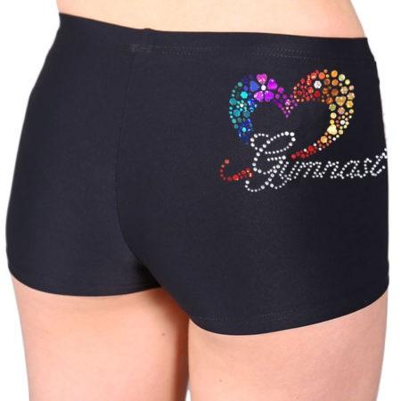 black matt lycra shorts gymnast print gymnastics uk 2