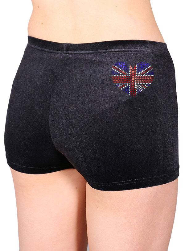 black velour shorts union jack print gb royal wedding