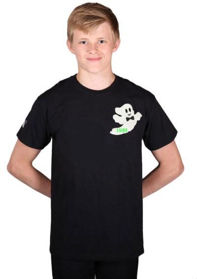 boys black tshirt ghost