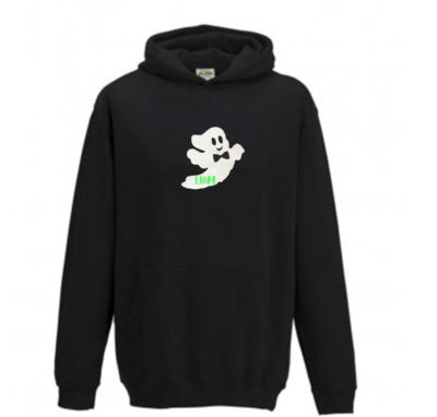 mens personalised ghost hoodie