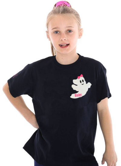 personalised ghosts ruby tshirt