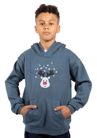 boys grey hoodie rudolf