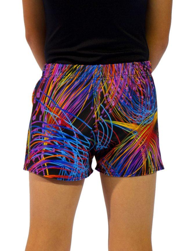 bright sparks shorts back