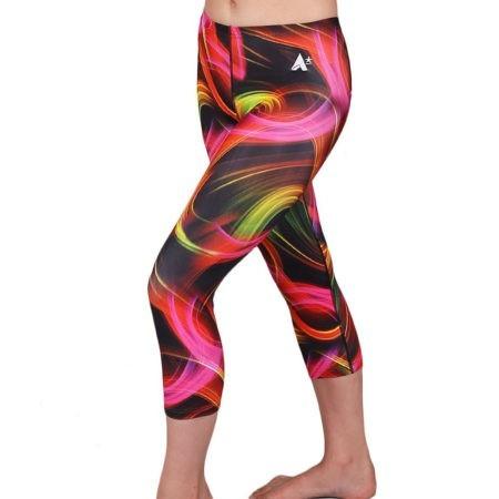 LG L129 Neon lights patterned leggings running gym leggings