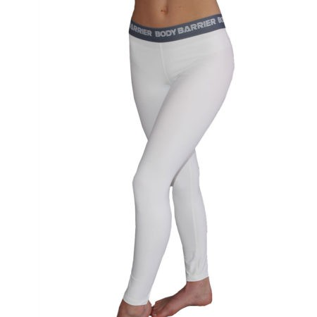 ladies base layer workout running skiing White leggings