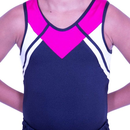 BV583 boys sleeveless gymnastics leotard pink black