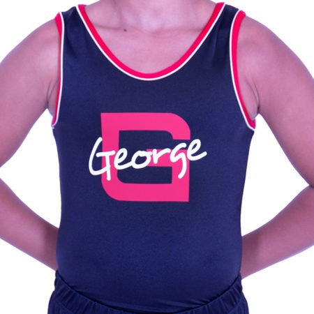 BVBJ01 J51PNN boys personalised leotard in black