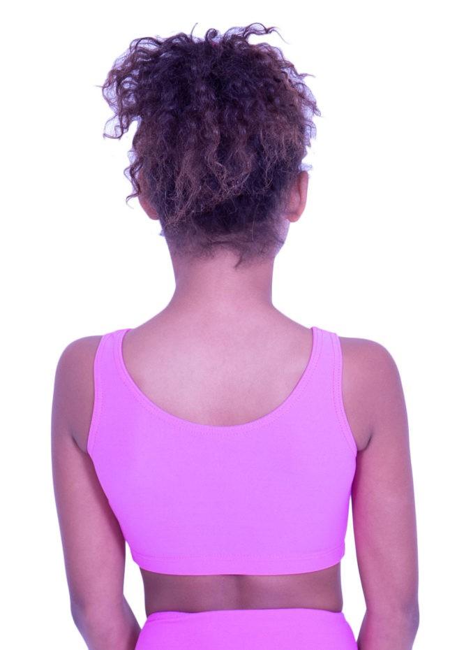 CT N05 girls pink gymmastics crop top