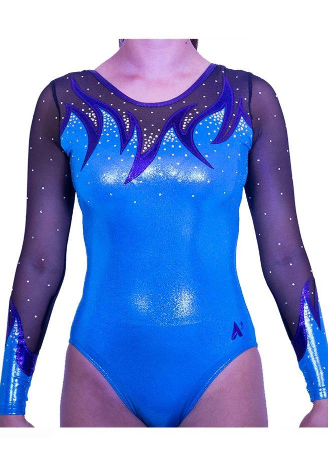 K416S52 S07D turquoise shimmer net gymnastics leo
