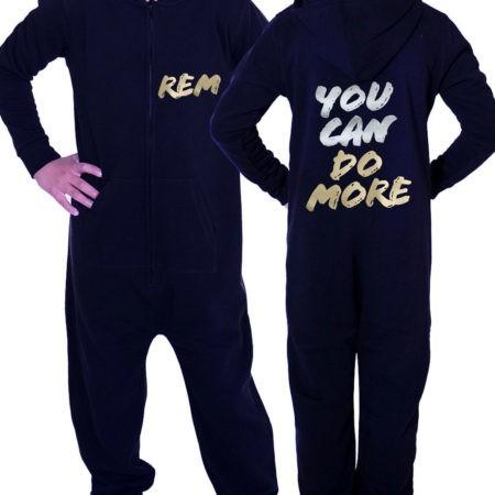 PTO 01 P17SG Black onesie you can do more motivational print