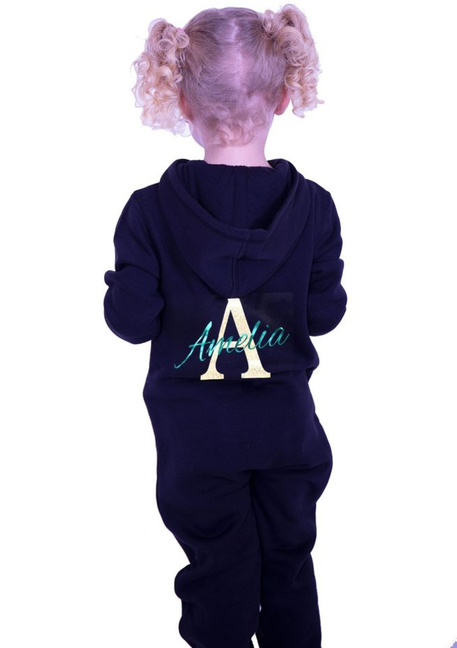 PTO 05 P29 Initial and name printed girls onesie