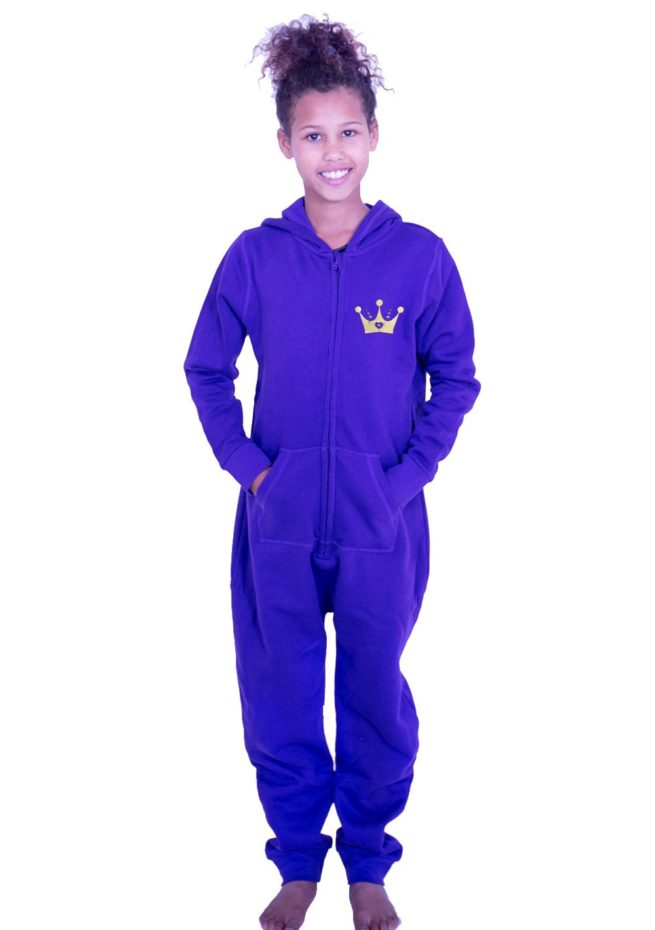 PTO 07 P25 purple winter onesie for gymnastics drama queen print