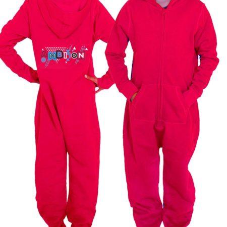 PTO 51 P23BBW girls red onesie with ambition print