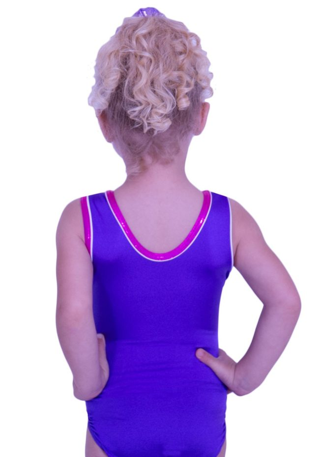 SPBJ07 PNN soft lycra leotard for girls gym training purple