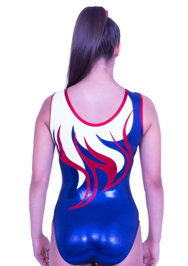 Z170S02 J11D red white and blue gb leotard club leotards for girls teams gymnastics