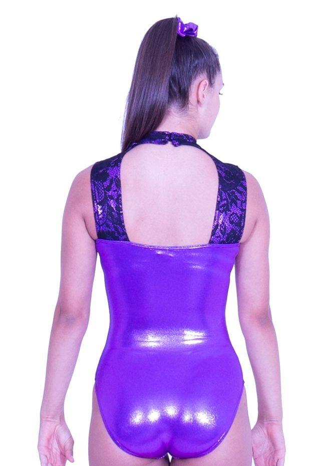 Z552S28 K01 open back gymnastics leotard with lace