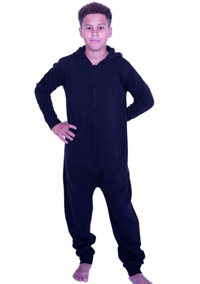black unisex onesie personalised
