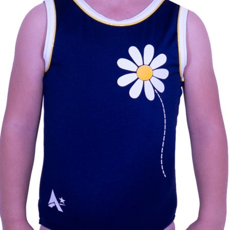 cute daisy leotard navy lycra gym leotard