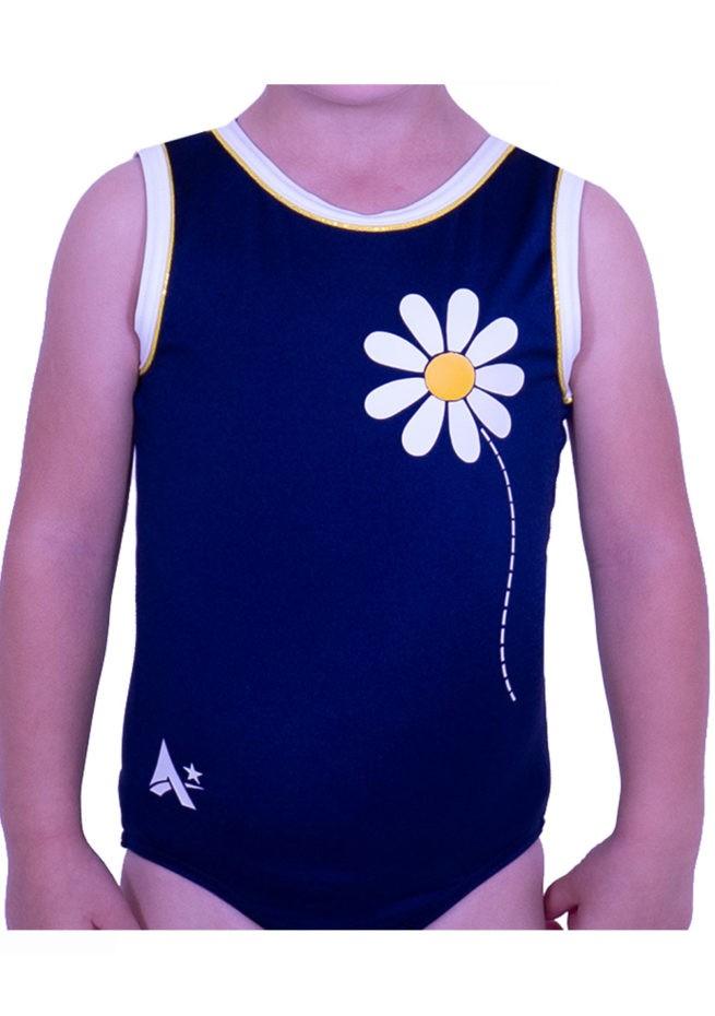 cute daisy leotard navy lycra gym leotard