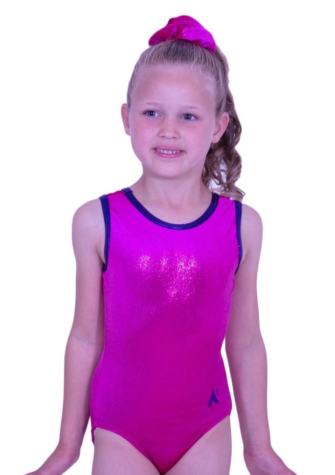 girls cheap basic plain pink soft gymnastics training leotard