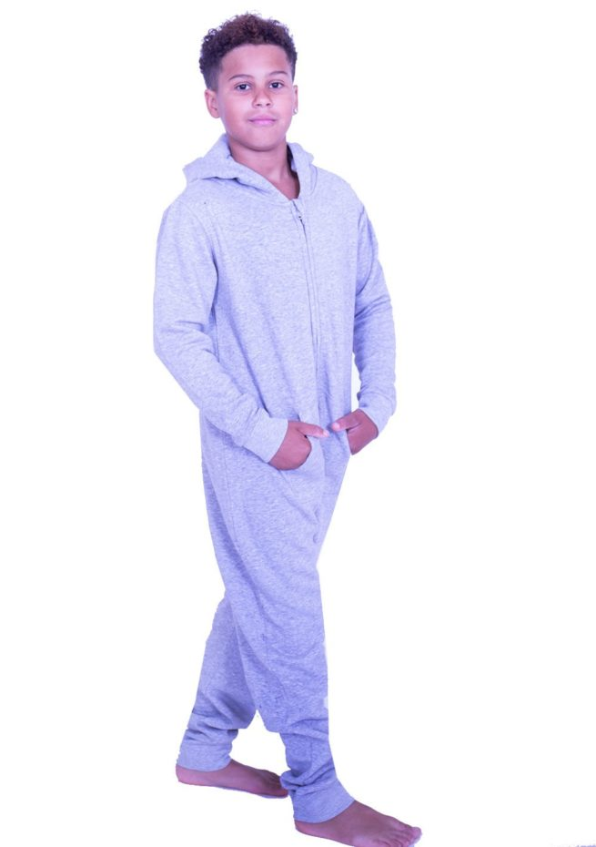 grey winter onesie for gymnastics training