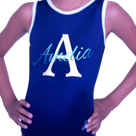 named leotard personalised gymnastics gifts training leotard