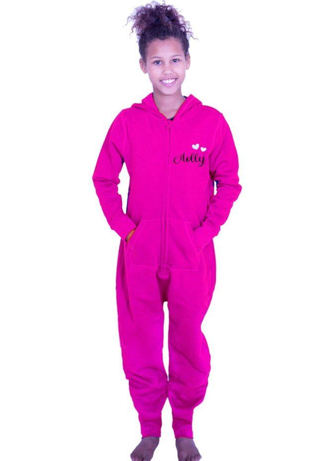 personalised named pink onesie