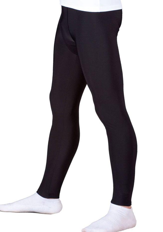 Black mens base layer leggings
