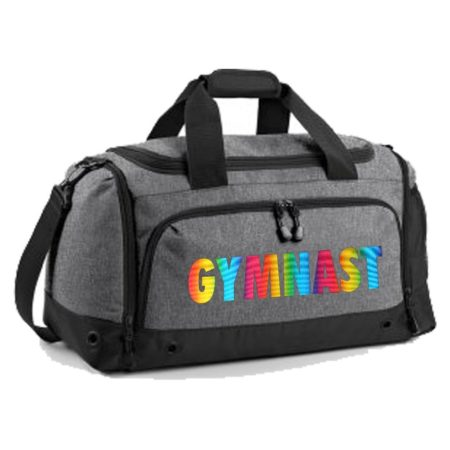 Grey holdall with GYMNAST print