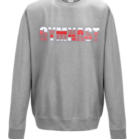 Grey with GYMNAST white red
