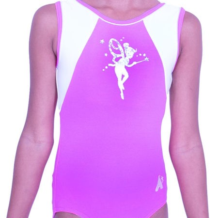 P36 tinkerbell leotard pink gym leo for girls