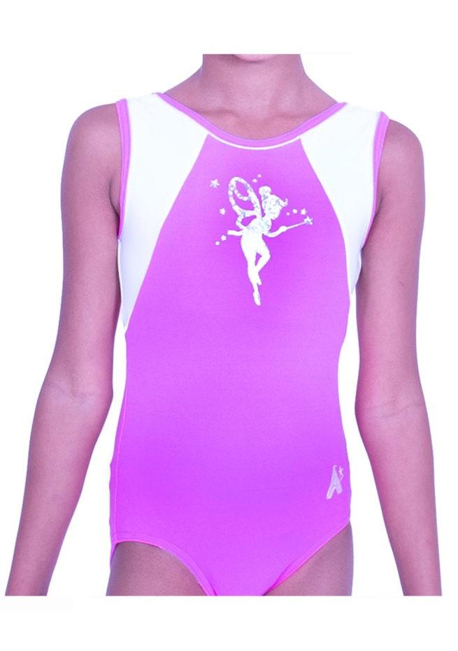 P36 tinkerbell leotard pink gym leo for girls